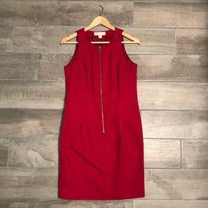 Michael Kors Red Zip Dress
